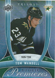 2009-10 UD Trilogy TOM WANDELL Rookie 506/799 Upper Deck RC NHL 00986