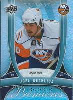 2009-10 UD Trilogy JOEL RECHLICZ Rookie 353/799 Upper Deck RC NHL 00987