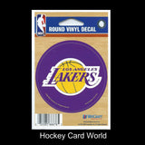 "Los Angeles Lakers 3"" Round Vinyl Decal Sticker NBA Licensed In/Outdoor"
