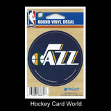 "Utah Jazz (Wood) 3"" Round Vinyl Decal Sticker NBA Licensed In/Outdoor"