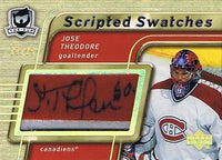 2005-06 The Cup Scripted Swatches JOSE THEODORE Patch/Auto 9/25 Canadiens