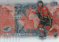 2015-16 Upper Deck Ice Global Impacts EMILE POIRIER UD NHL 02059