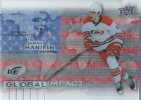 2015-16 Upper Deck Ice Global Impacts NOAH HANIFIN UD NHL 02052