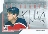 2013-14 ITG Decades 1990's PAUL LAUS Autograph Auto In The Game 01360