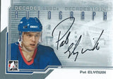 2013-14 ITG Decades 1990's PAT ELYNUIK Autograph Auto In The Game 01358