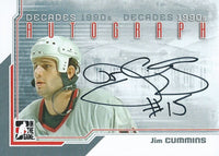 2013-14 ITG Decades 1990's JIM CUMMINS Autograph Auto In The Game 01354