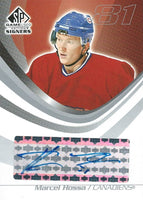 2003-04 SP Game Used Signers MARCEL HOSSA Auto Autographs Upper Deck 00171