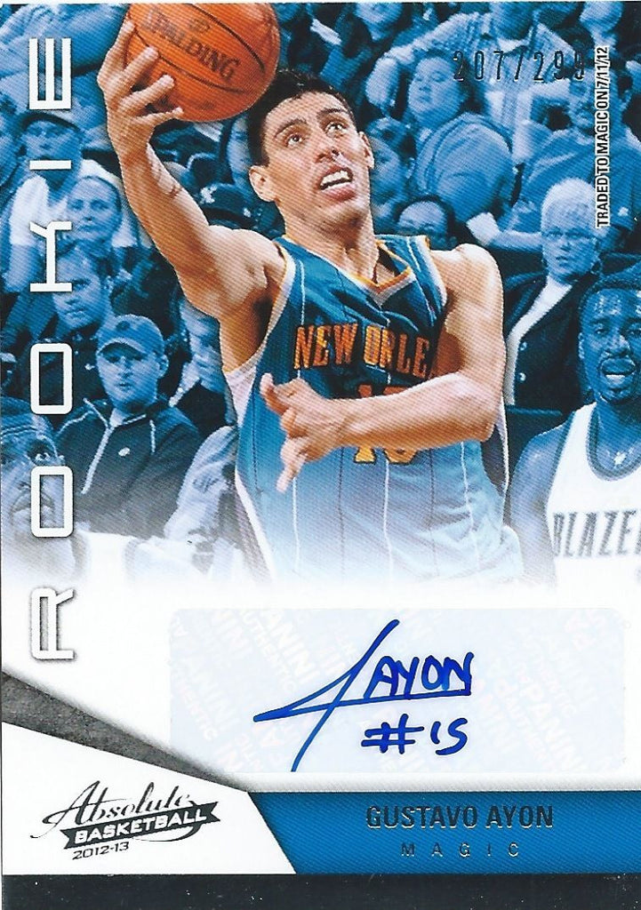 2012-13 Absolute GUSTAVO AYON 207/299 Auto Rookie RC Panini NBA 01194