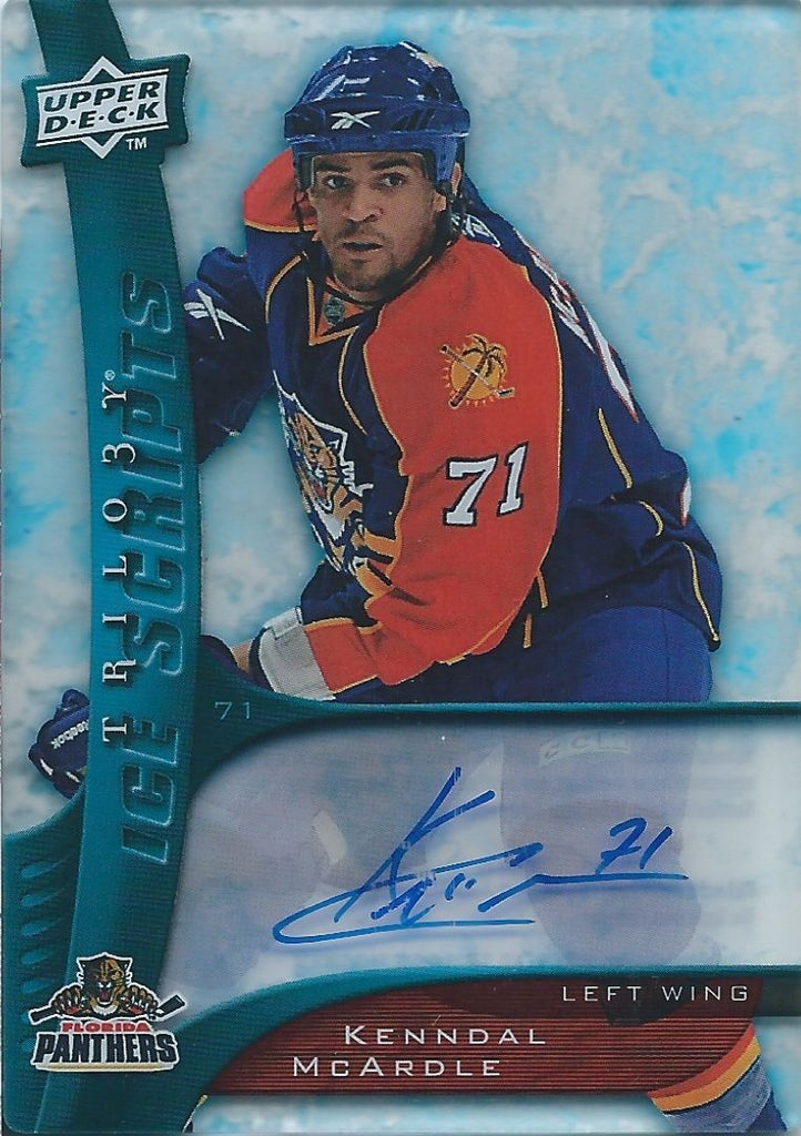2009-10 Trilogy Ice Scripts KENNDAL McARDLE Auto Autographs Upper Deck