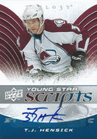 2008-09 Trilogy Young Stars Scripts T.J. HENSICK Auto Upper Deck 00183
