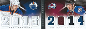 2013-14 Playbook Double Rookie Jerseys YAKUPOV / MACKINNON Panini Classbook