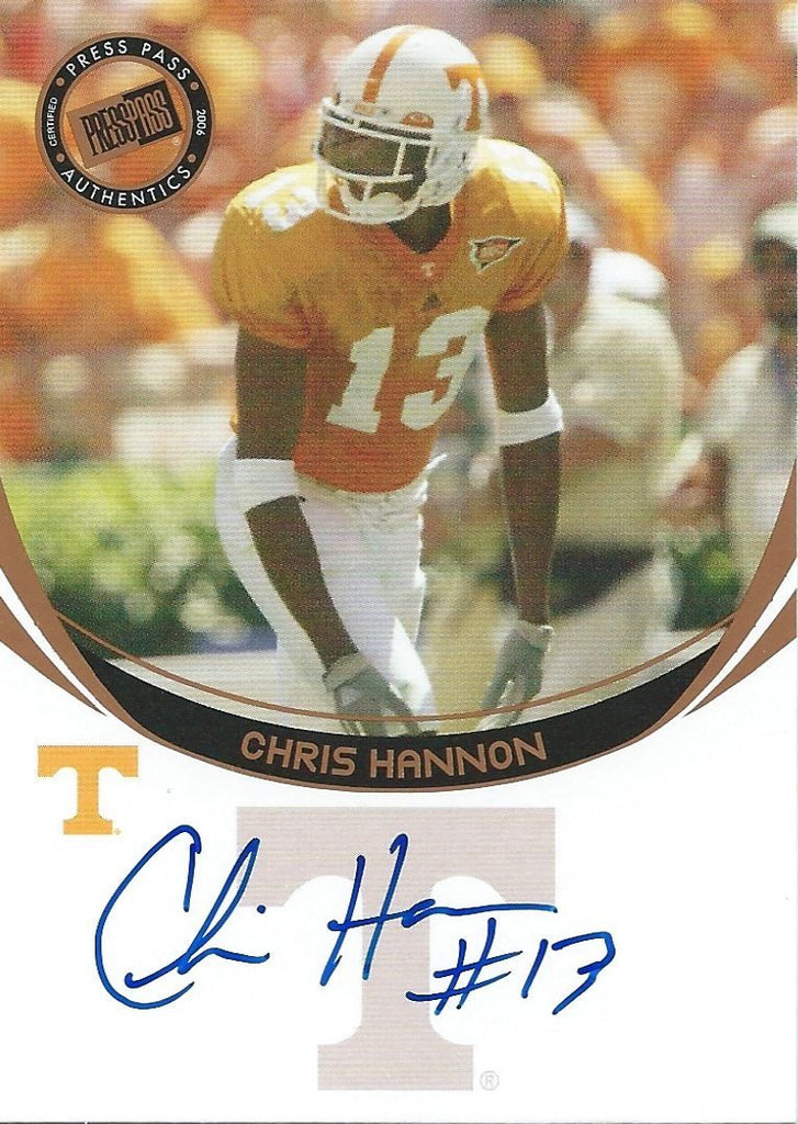 2006 Press Pass Bronze CHRIS HANNON Autograph Signature NFL Football 01109