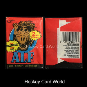 1987 Topps ALF Series 2 Hobby Pack - 5 Trading Cards + 1 Sticker + Gum