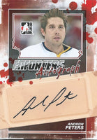 2011-12 ITG Enforcers Autographs ANDREW PETERS Auto In the Game 00401
