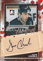 2011-12 ITG Enforcers Autographs SHANE CHURLA Auto In the Game