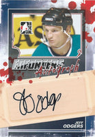 2011-12 ITG Enforcers Autographs JEFF ODGERS Auto In the Game 00393