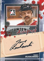 2011-12 ITG Enforcers Autographs TERRY RUSKOWSKI Auto In the Game 00400