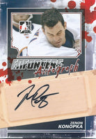 2011-12 ITG Enforcers Autographs ZENON KONOPKA Auto In the Game 00408