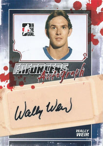2011-12 ITG Enforcers Autographs WALLY WEIR Auto In the Game 00399