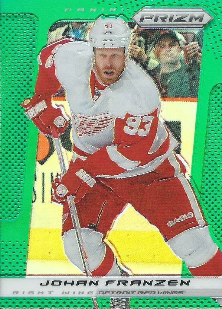 2013-14 Panini Prizm Green #31 JOHAN FRANZEN NHL Red Wings 00589