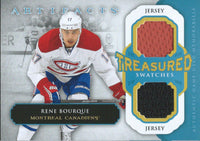 2013-14 Upper Deck Artifacts RENE BOURQUE Dual Jersey UD NHL 01903