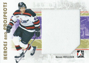 2007-08 ITG Heroes and Prospects Jerseys KEVEN VEILLEUX Swatch TP 02269