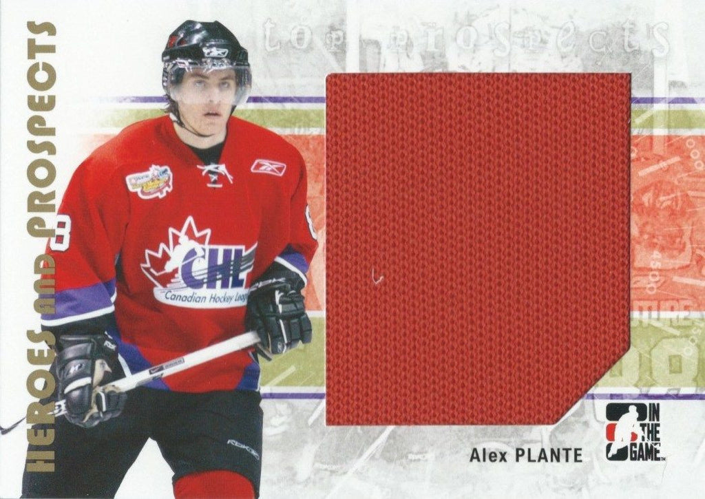 2007-08 ITG Heroes and Prospects Jerseys ALEX PLANTE Swatch TP 02295