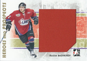 2007-08 ITG Heroes and Prospects Jerseys RUSLAN BASHKIROV Swatch TP 02296