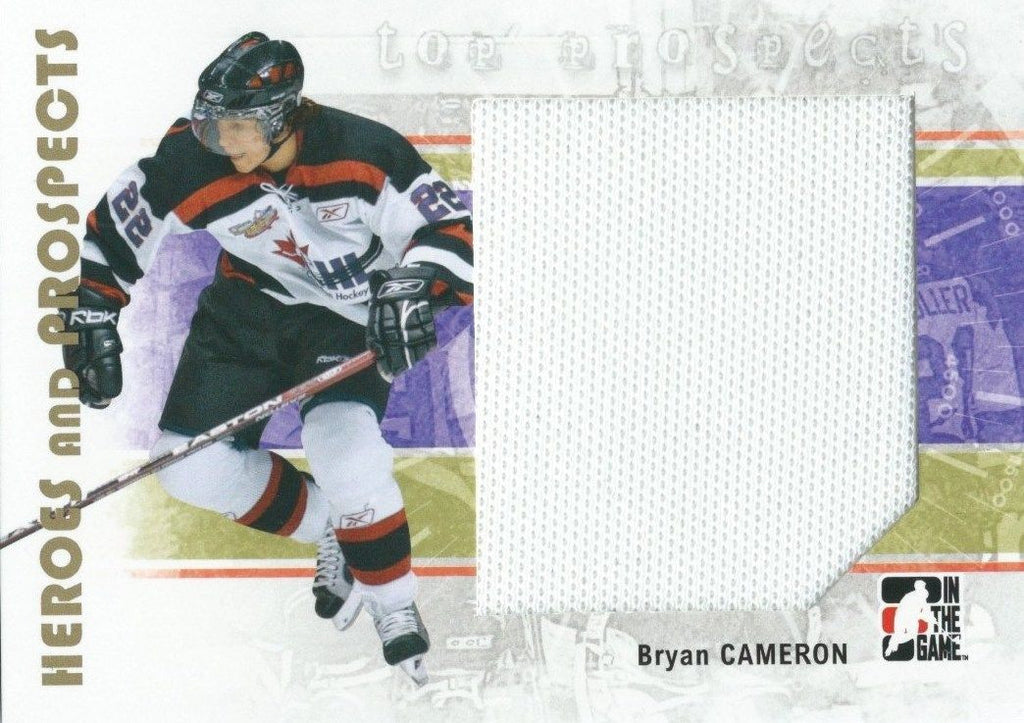 2007-08 ITG Heroes and Prospects Jerseys BRYAN CAMERON Swatch TP 02293