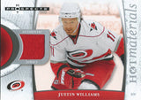 2007-08 Hot Prospects Hot Materials JUSTIN WILLIAMS Jersey NHL 01899