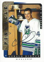1996-97 Be A Player GERALD DIDUCK Auto Autographs Pinnacle Whalers 00360