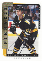1996-97 Be A Player JASON WOOLLEY Auto Autographs Pinnacle Penguins 00365