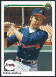 1990 Upper Deck #711 DAVID JUSTICE Rookie RC Baseball MLB 02474