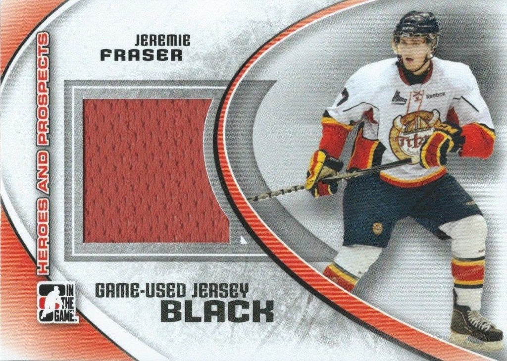 2011-12 ITG Heroes and Prospects Black JEREMY FRASER/100* Jersey 02290