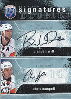 2007-08 Be A Player Signatures Duals BRENDAN WITT / CHRIS CAMPOLI 00250