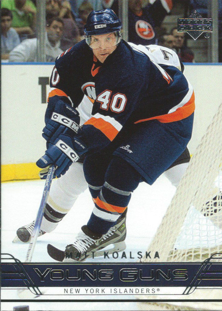 2006-07 Upper Deck MATT KOALSKA Young Guns Rookie RC 02382