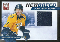 2011-12 Panini Elite New Breed Material JONATHAN BLUM Jersey NHL 01939