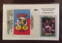 1973-74 O-Pee-Chee Original Wax Wrapper + BILLY SMITH Rookie Display