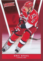 2010-11 Upper Deck Victory Red ERIC STAAL $10 UD NHLHurricanes 00650