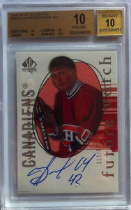 2005-06 SP Authentic ALEXANDER PEREZHOGIN Auto RC BGS 10 113/999