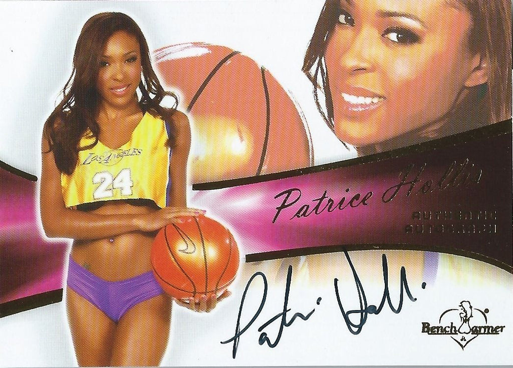 2011 Bench Warmer Bubblegum PATRICE HOLLIS Autograph Auto