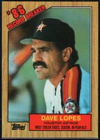 1987 Topps #4 Davey Lopes Astros RB
