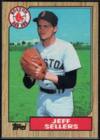 1987 Topps #12 Jeff Sellers Red Sox