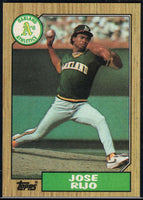 1987 Topps #34 Jose Rijo Athletics