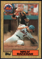1987 Topps #48 Wally Backman Mets