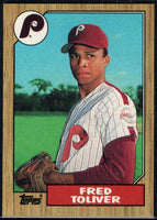 1987 Topps #63 Fred Toliver Phillies