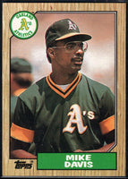 1987 Topps #83 Mike Davis Athletics