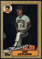 1987 Topps #93 Jim Leyland RC Rookie Pirates MG