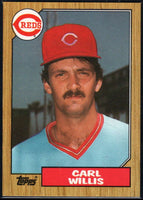 1987 Topps #101 Carl Willis RC Rookie Reds