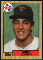 1987 Topps #126 Mike Loynd RC Rookie Rangers